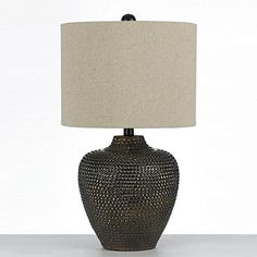 Danbury Brown One Light Table Lamp By Angelo Home Af Lighting Accent Lamp Table Lamps Metal Table Lamps, Ceramic Table Lamps, Light Bulb Bases, Trends, Fabric Shades, Lamp Shades, Incandescent Bulbs, Drum Shade, Light Table