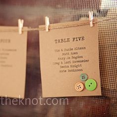 Seating chart for reception