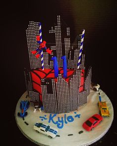 Spider-Man themed Happy Birthday Cake