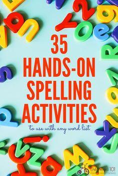 35 Hands On Spelling Activities