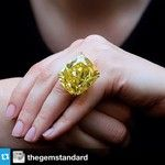 "If it seems dim outside today, that's because the sun is up for auction at Sotheby's: ""Big day for big diamonds at @Elize Brand in Geneva. This extraordinary 100.09-carat diamond, known as the 'Graff Vivid Yellow', goes under the hammer with an estimate of $15-25 million."" --Repost from @The Gem Standard with @repostapp #diamonds #jewelry"