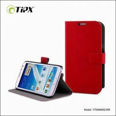 Funda en cuero ecológico para Galaxy Note 2 con función soporte horizontal y tarjetero en el interior. Disponible en 3 colores. El paquete incluye un film protector de pantalla y un paño de microfibra para limpieza.