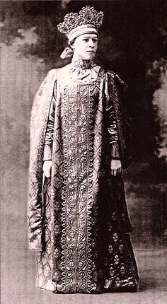 Countess Elena Ivanovna Zvegintsova at the Winter Palace Masquerade Costume ball, 1903.