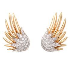 TIFFANY and CO. JEAN SCHLUMBERGER, Flame Earclips