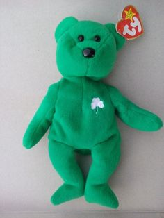 98eecceffe1 Beanie Babies TY RARE Retired Green Irish Erin Bear with Errors  TY