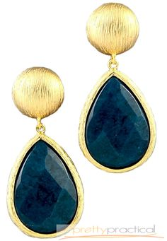 Gosh these are beautiful! Meera Gemstone Earrings from #prettypractical