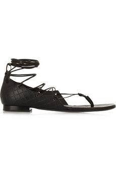 Bottega Veneta Embossed leather sandals | NET-A-PORTER
