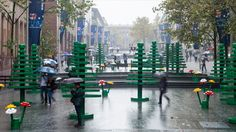 Giant Lego trees and flowers in Sydney