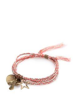 MANGO - TOUCH - Charms braided bracelet