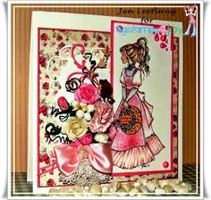 A card made with one of my own digistamps FELICITY available at digistamps4joy.co.za