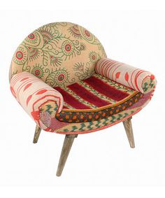 Another great find on #zulily! Green & Red Vine Modern Traveler Chair by Karma Living #zulilyfinds