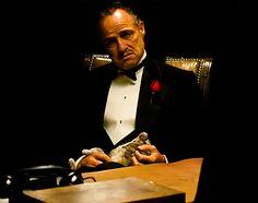 Marlon Brando as Don Vito Corleone, The Godfather. & on Bristol Board The Godfather Mr Everything, The Godfather Game, The Godfather Wallpaper, Don Corleone, Einstein, Greys Anatomy Memes, Cinema, Walter White, Marlon Brando