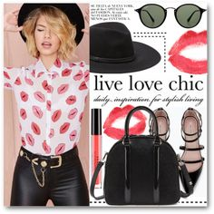 Kiss me! by stylemoi-offical on Polyvore featuring Zara, Vince Camuto, Ray-Ban, Topshop, Stila and stylemoi