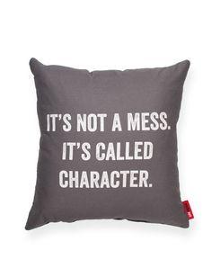 It's Not a Mess Grey Throw Pillow | POSH365INC