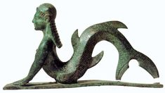 Etruscan bronze statuette representing a beautiful artistic interpretation, presumably of Scylla or another sea creature. Antiquarium of Corciano, Perugia, Italy; Origin: necropolis at Strozzacapponi Ancient Rome, Ancient History, Art History, Mermaid Art, Ancient Artifacts, Ancient Civilizations, Bronze Sculpture, Mythical Creatures, Archaeology