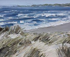 Choppy Sea Llanddwyn, Matthew Snowden. - Acrylic on Canvas - (Source: Oriel Kooywood Gallery )
