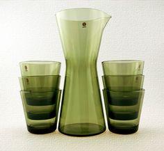 Swedish Modern Kaj Franck Kartio Beverage Set - Retro Art Glass