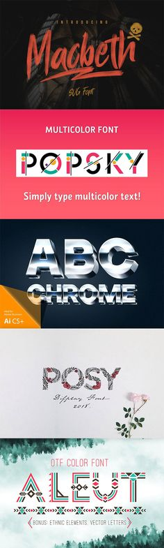 """Fantastic """"Color Fonts"""" and Where To Find Them"""