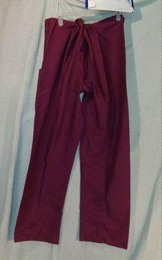b2909777d35 sz Large wine / burgundy WS Gear scrub pants style 14020 038 L FREE  SHIPPING #