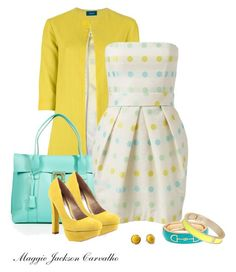 """""""Yellow Shoes"""" by maggie-jackson-carvalho ❤ liked on Polyvore featuring Malaica, Salvatore Ferragamo, Forever New, Pim + Larkin, Veda Soul, Fornash and Tokyo Jane"""