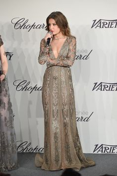 Adèle Exarchopoulos in Valentino at the Chopard Trophy event.