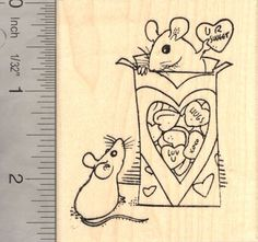 Valentines Day Mice Rubber Stamp Rat Mouse ** Be sure to check out this awesome product.