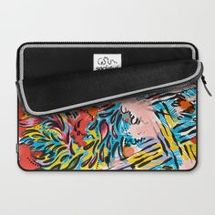 Colorful Painterly Hand Drawn Scribble Art Laptop Sleeve by Season Of Victory | Society6