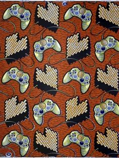 Video Game Print  Congo Style