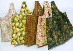 Entre Linhas e Tecidos: Dica de blogueira - sacola para compras: