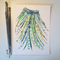 I'm still not sure whether this is a headdress or just a skirt.:) #art #painting #abstract #artforsale #etsyshop #etsyfinds #etsyseller #etsyhandmade