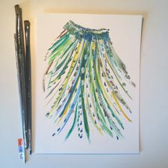 I'm still not sure whether this is a headdress or just a skirt.:) #art #painting #abstract #artforsale #etsyshop #etsyfinds #etsyseller #etsyhandmade