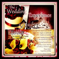 Join us in Boston for The Wedding Experience where we will have workshops and also will be renewing our vows. Singles, Couples and everything in between. Looking forward to seeing you there.