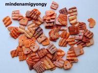 Festett kagylógyöngy 25g - narancs