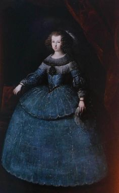 Retrato de la infanta margarita.  Escuela de Carreño Miranda, de la segunda mitad del siglo XVII. Colección Selgas-Fagalde.