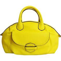 MoDA Buttersoft Satchel - Lemon - Satchels (520 UAH) ❤ liked on Polyvore featuring bags, handbags, yellow, pocket purse, handbag satchel, shoulder bag purse, floral satchel handbags and satchel handbags