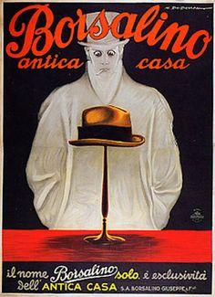 Borsalino Hats Advertising Campaign  MarcelloDudovich (1878-1932) Carteles  Vintage a5fa307d4c1