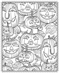 Free Adult Coloring Book Pages Happy Halloween by Blue Star