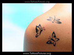 butterfly shoulder tattoo