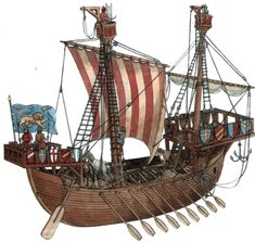 Early merchant and diverse other vessels - Naval warfare and warships - Ancient and Medieval - Mediterranean and Indian Ocean - Atlantic and Pacific. Old Sailing Ships, Sailing Boat, High Middle Ages, Medieval World, Naval History, Cogs, Navy Ships, 12th Century, Boat Building