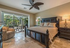 Master bedroom interior design by Connie Sherrard, Baer's Furniture - Ft. Myers, Florida