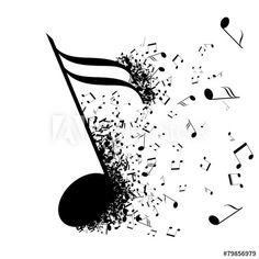 Music Tattoo Designs, Music Tattoos, Music Designs, Music Drawings, Music Artwork, Design Web, Logo Design, Music Notes Art, Blur Background Photography