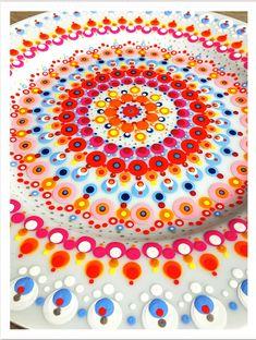 Mandala Painting, Dot Painting, Stippling Art, Candle Box, Mandala Dots, Pottery Painting, Ceramic Art, Diy And Crafts, Workshop