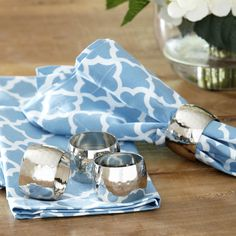 Hammered Napkin Rings