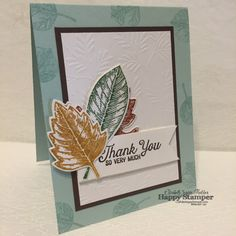 Stampin Up, Vintage Leaves, diy, Flourishing Phrases, Fancy Frost