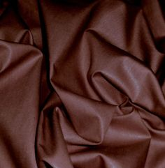 CHOCOLATE-BROWN-POLISHED-COTTON-SHINY-FABRIC-44-W-DECOR-DRESS-SKIRT-CRAFT-BTY