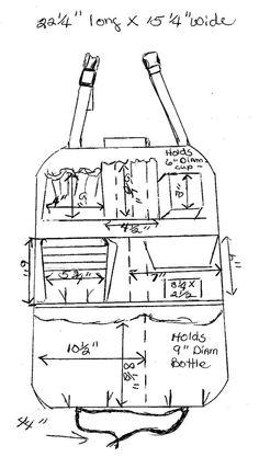 Traveling bag back of seat