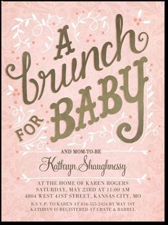 Brunch for Baby http://www.tinyprints.com/product/61538/baby_shower_invitations_brunch_for_taffy.html