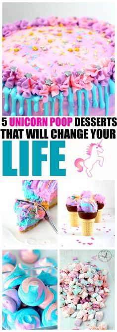 5 Unicorn Poop Desse