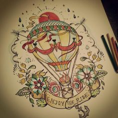 hot air balloon drawing - Pesquisa Google