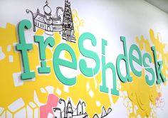 Wall Painting for Freshdesk (1) on Behance